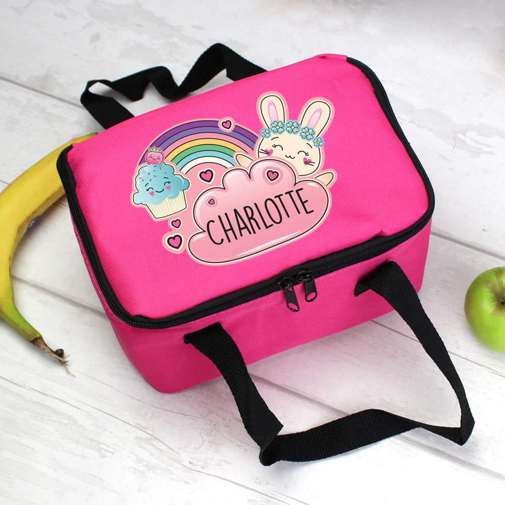 Cute Bunny Pink Lunch Bag