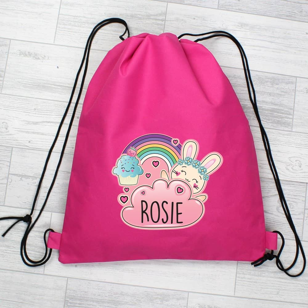 Cute Bunny Pink Swim & Kit Bag