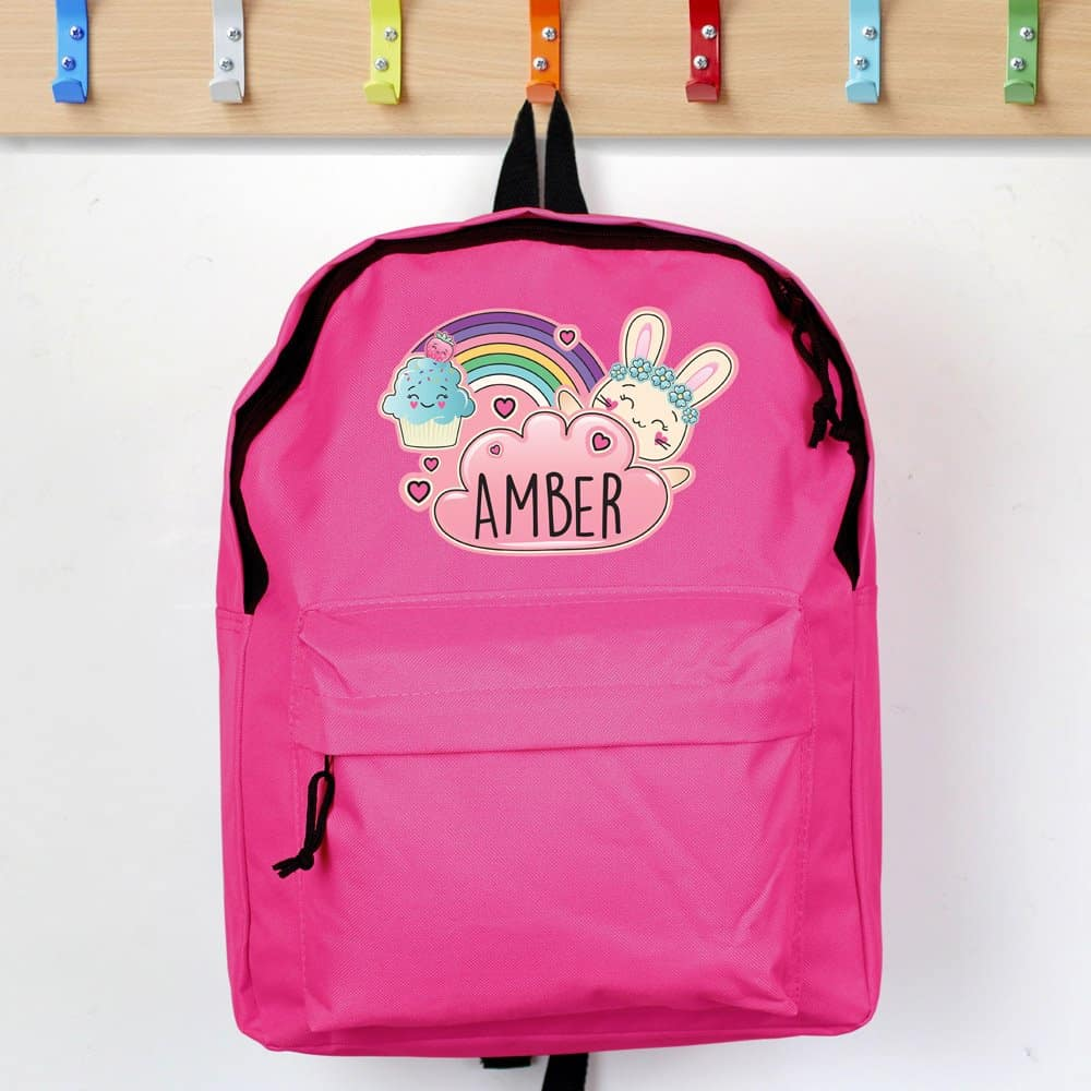 Cute Bunny Pink Backpack
