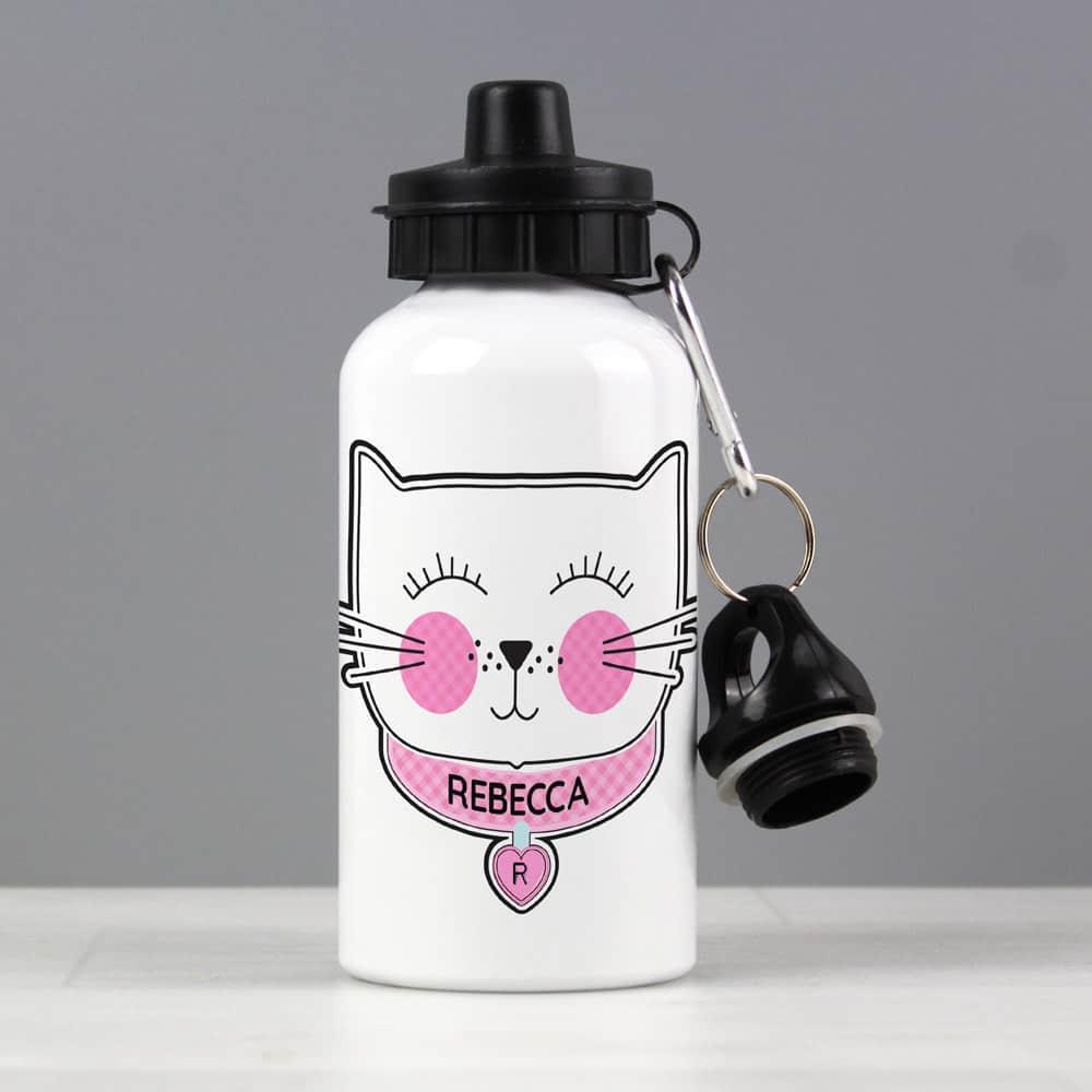 Cute Cat Drinks Bottle