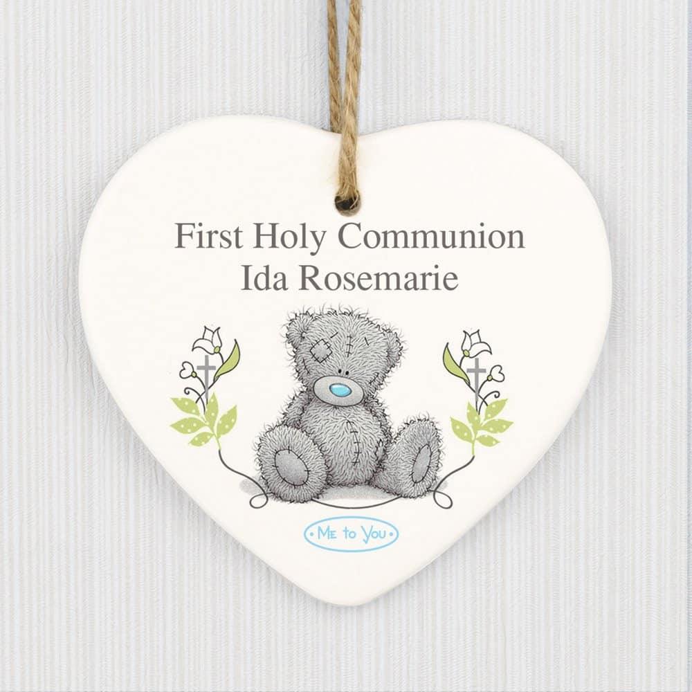 Me To You Religious Cross Ceramic Heart Decoration