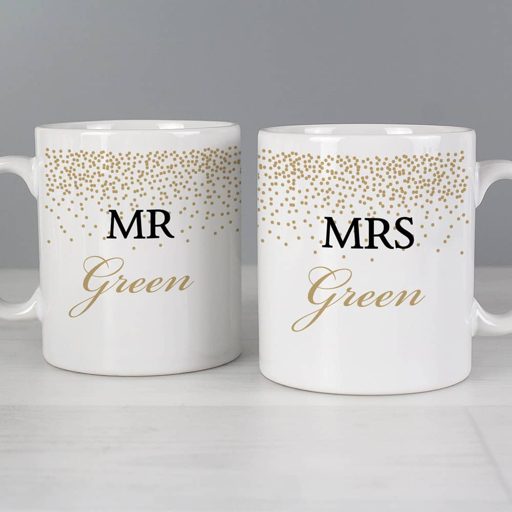 Gold Confetti Mug Set