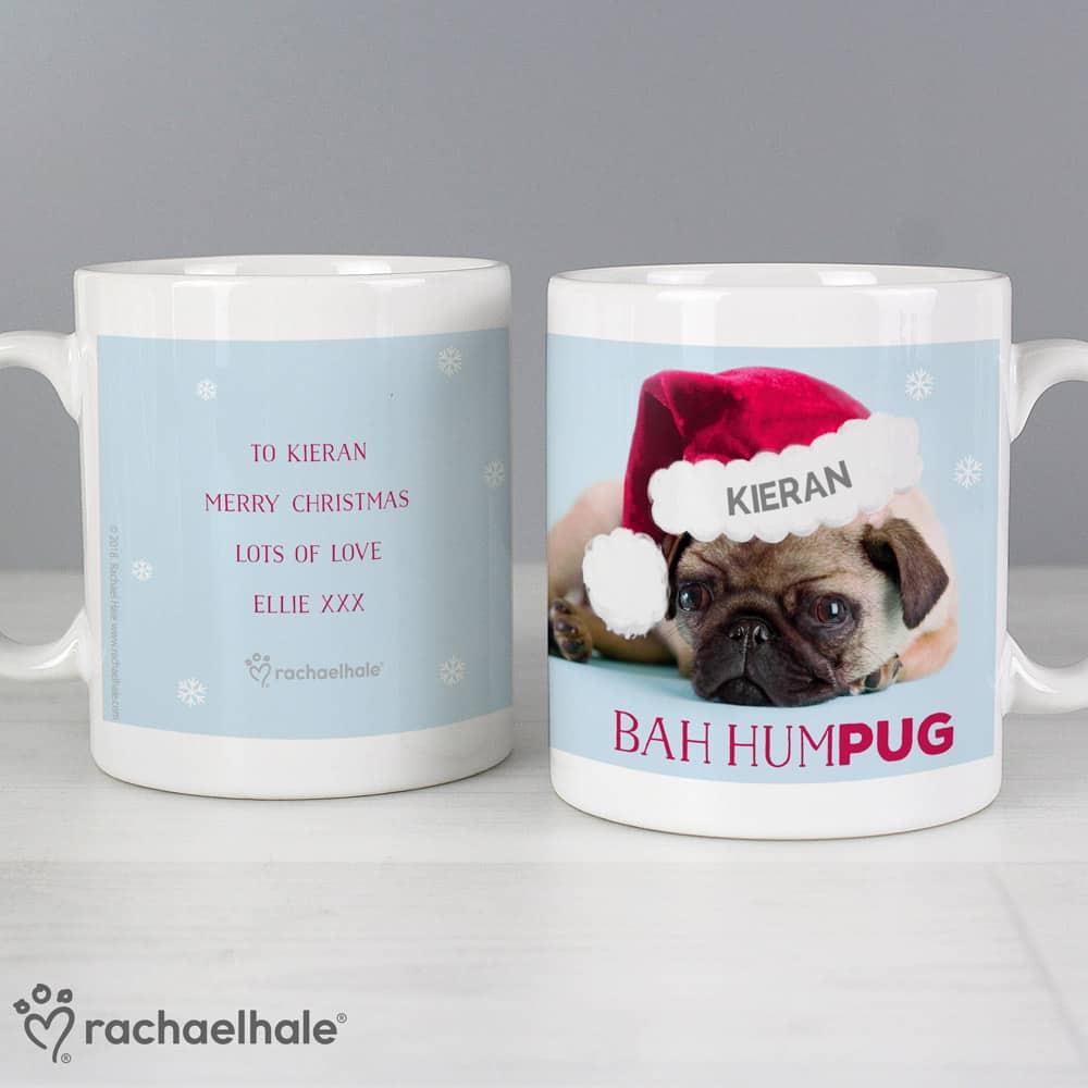 Rachael Hale Christmas Bah Hum Pug Mug