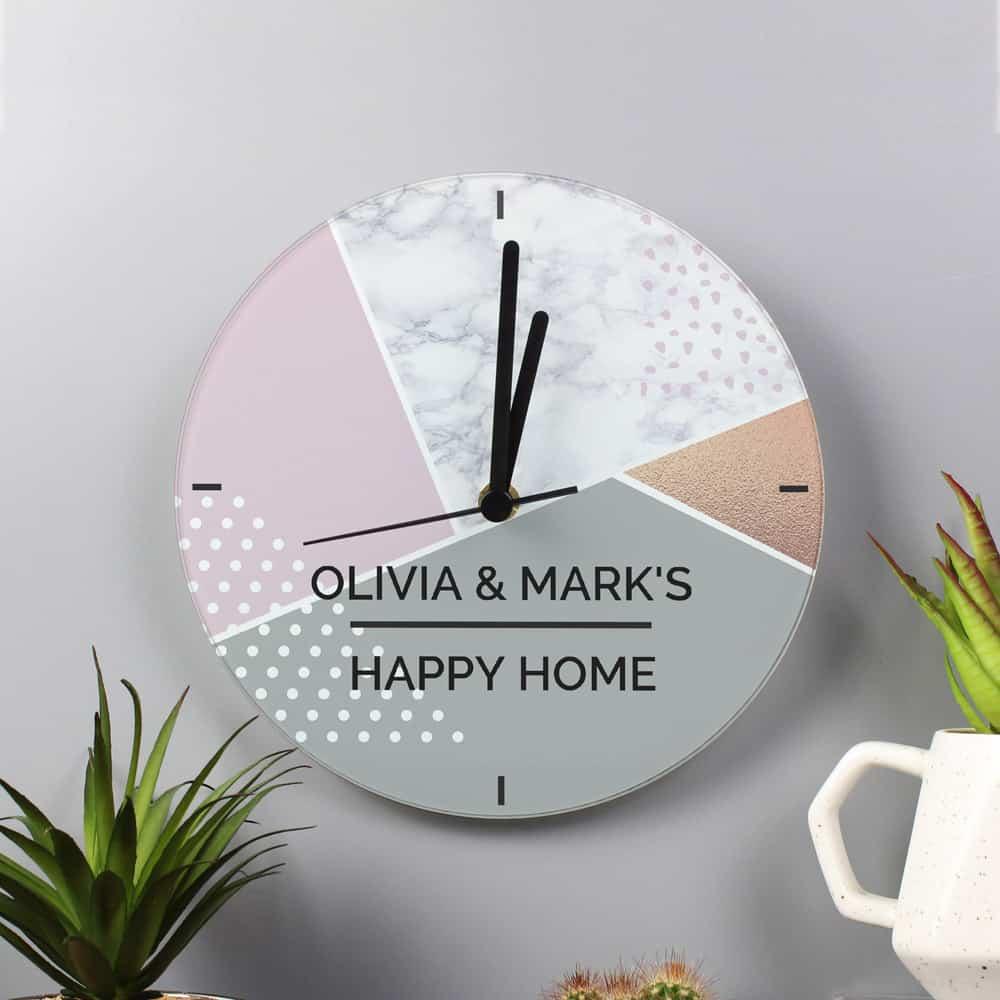 Geometric Glass Clock