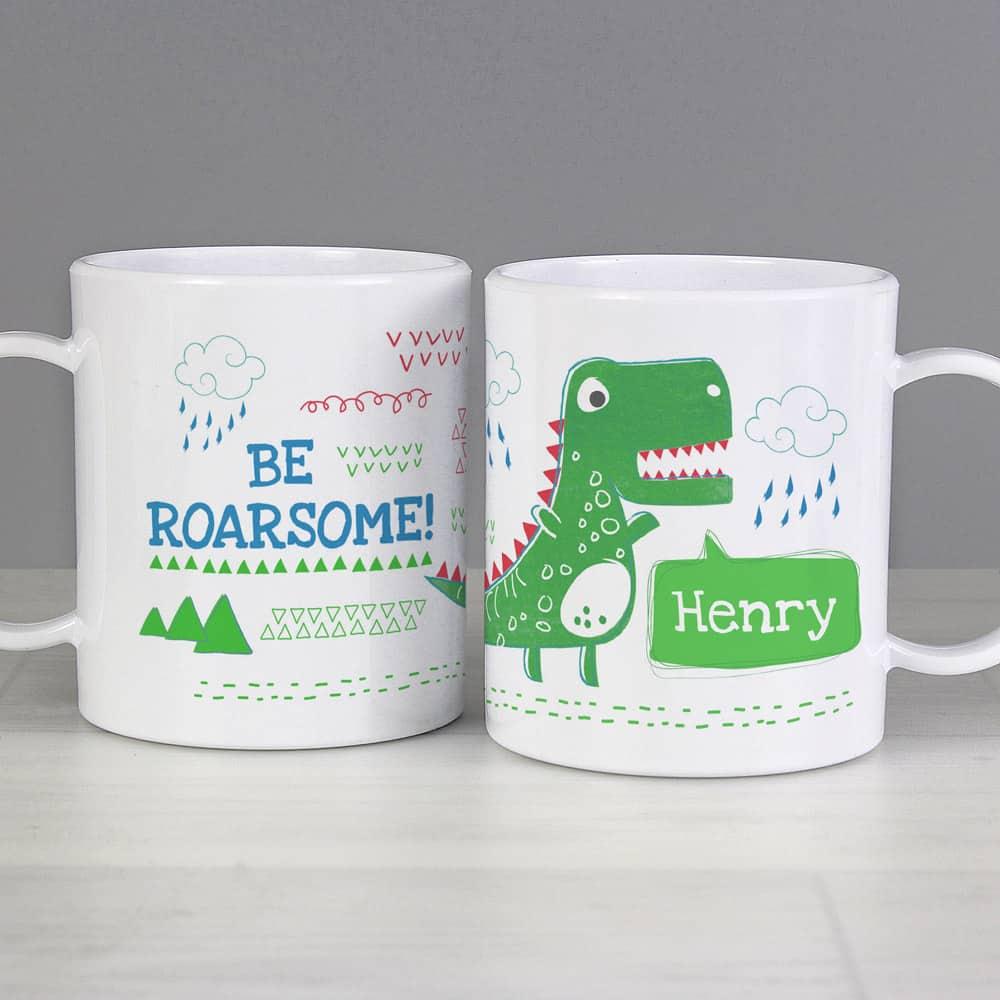 Be Roarsome' Dinosaur Plastic Mug