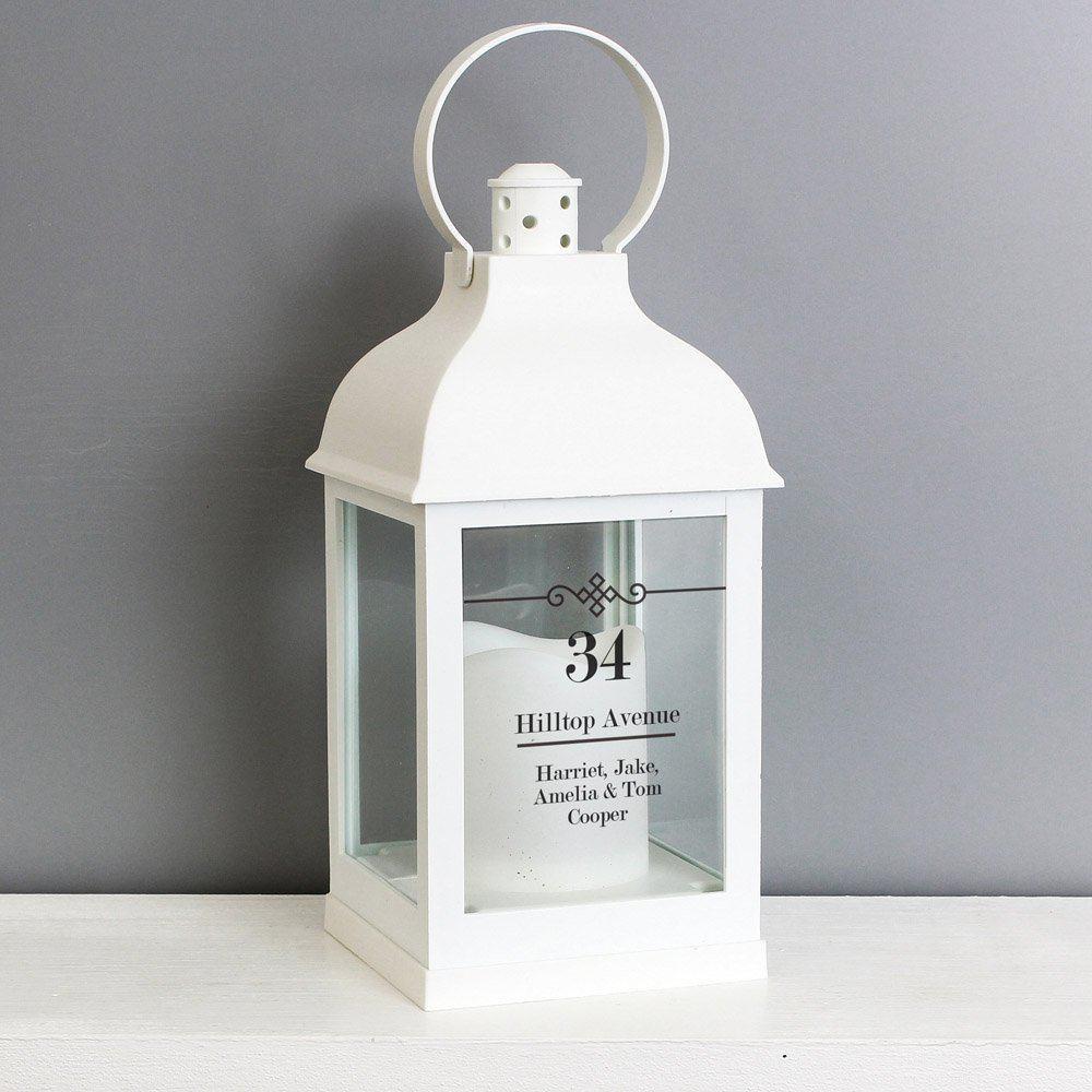 Elegant Diamond White Lantern