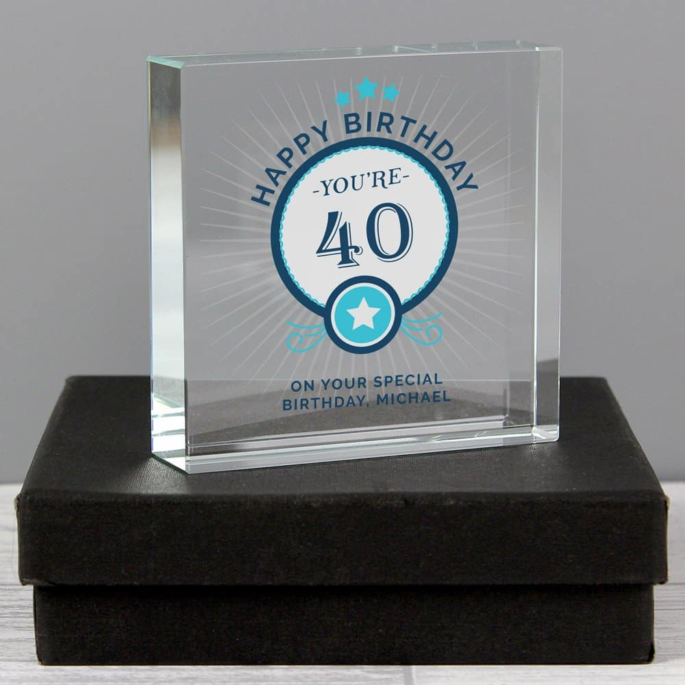 Birthday Large Crystal Token