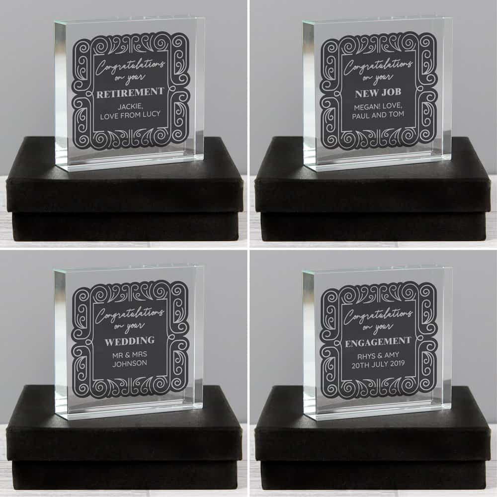 Congratulations Large Crystal Token