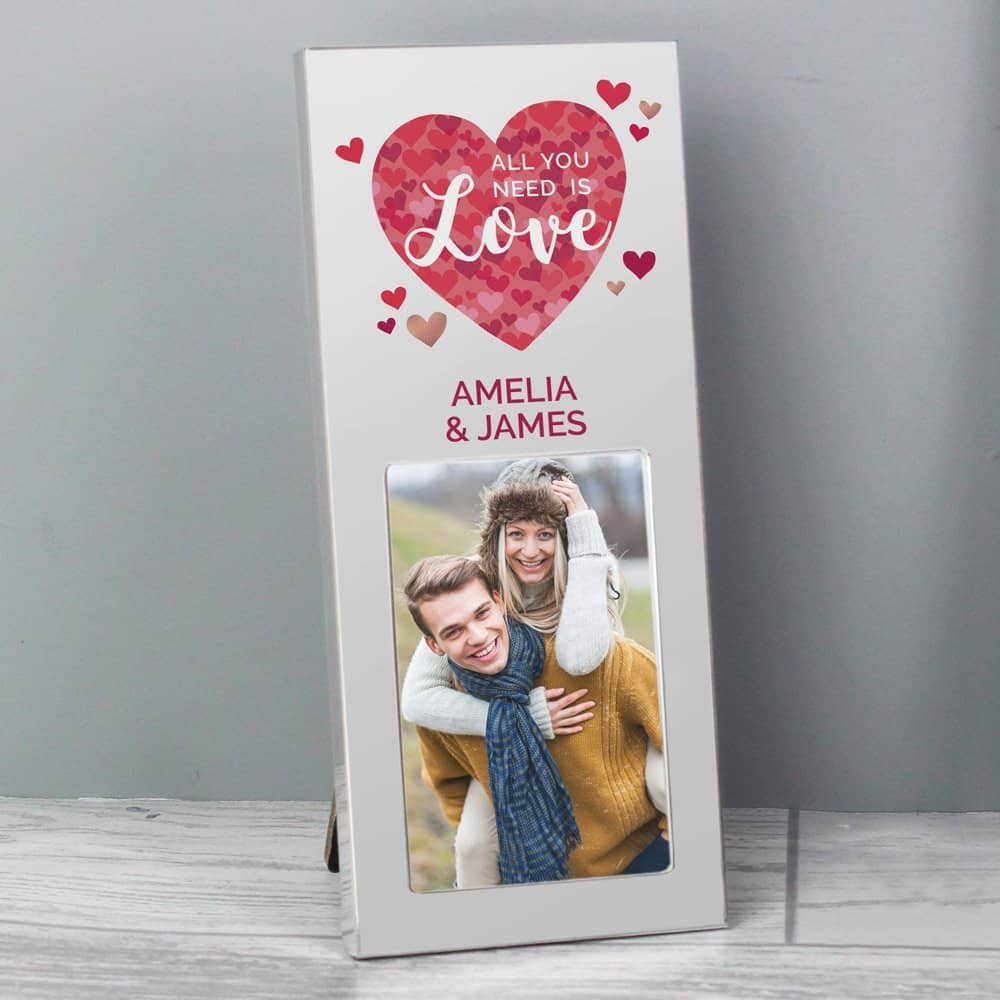 All You Need is Love' Confetti Hearts 3x2 Photo Frame