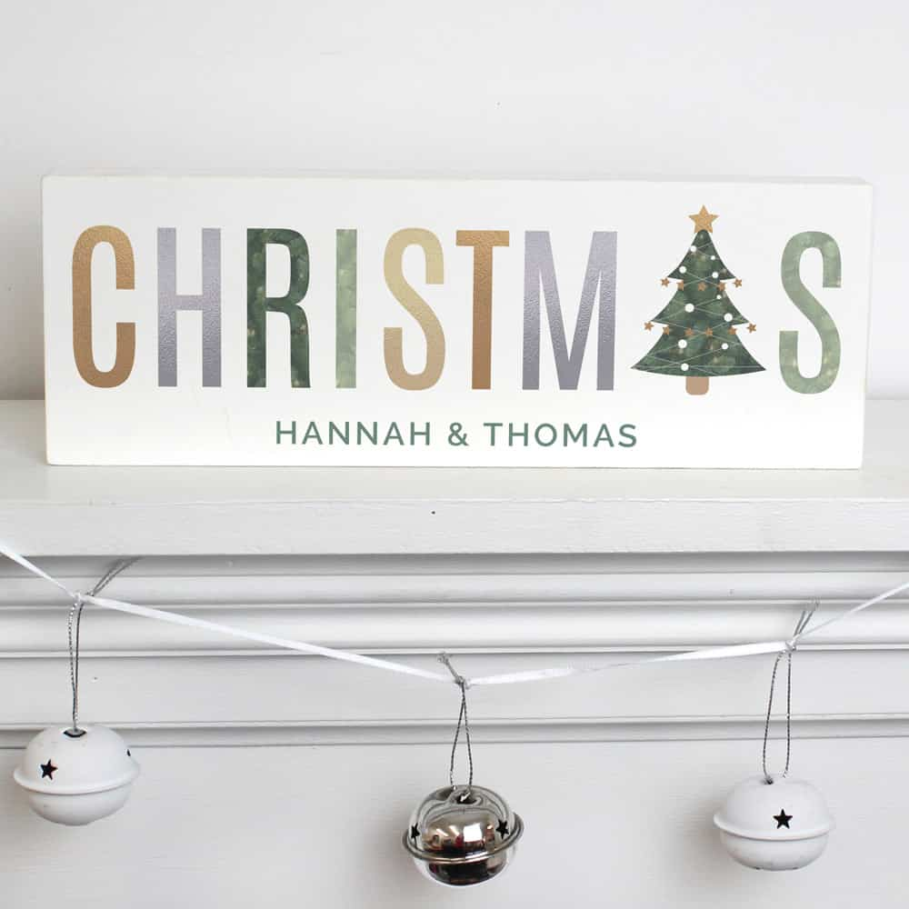 Christmas Wooden Block Sign