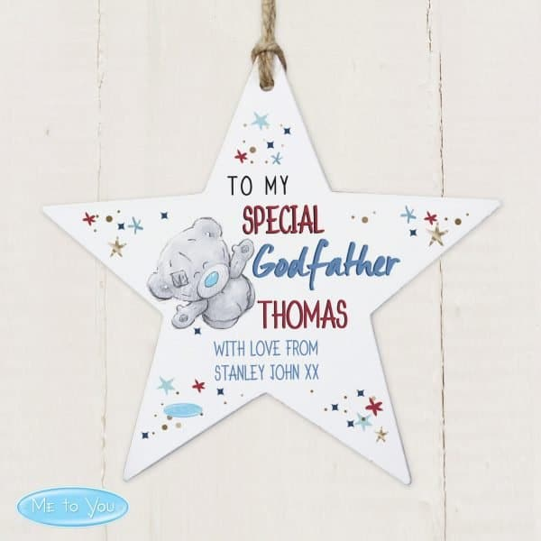 Me to You Godfather Wooden Star Decoration