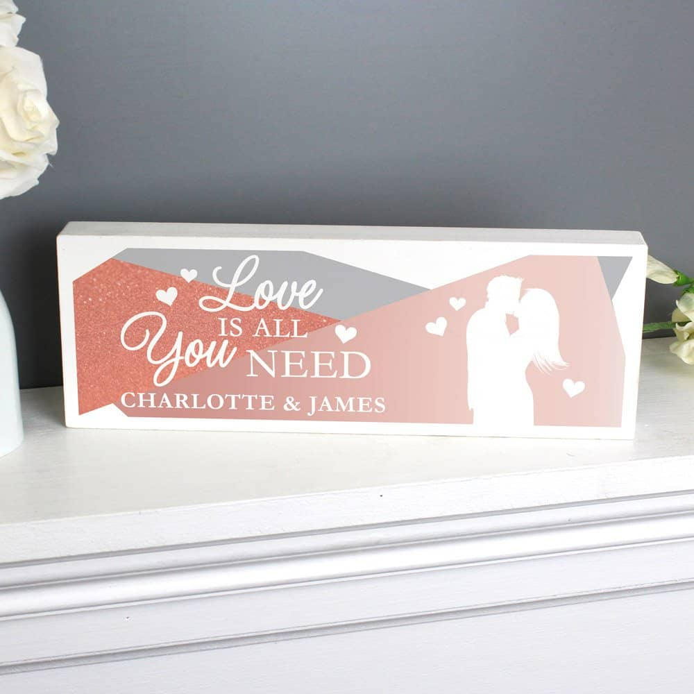 Love is All You Need' Wooden Block Sign