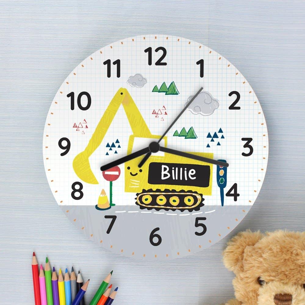 Digger Wooden Clock