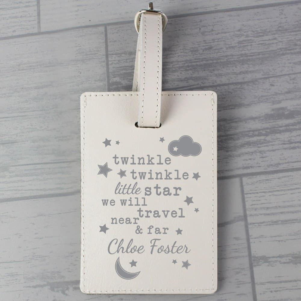 Twinkle Twinkle Cream Luggage Tag