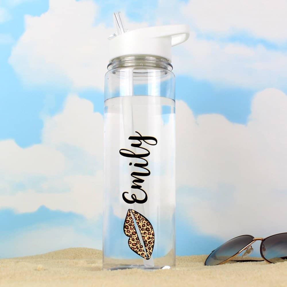 Lepoard Lips Island Water Bottle