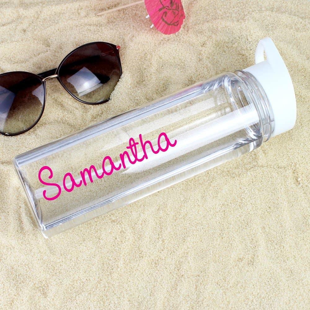 Pink Name Island Water Bottle