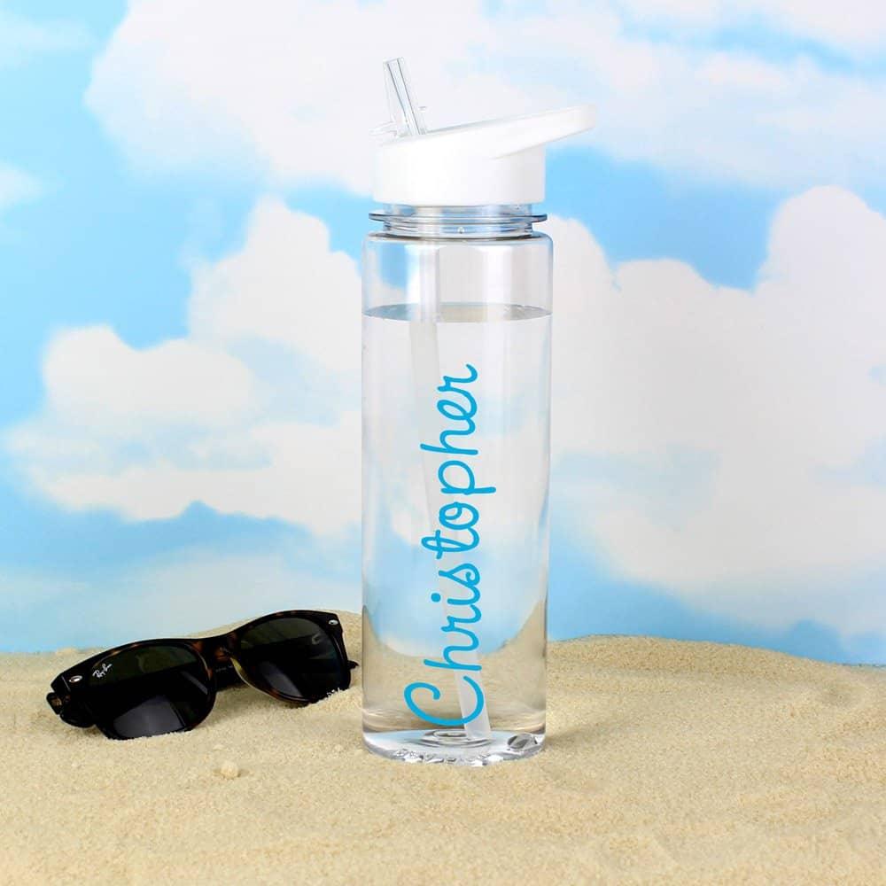 Blue Name Island Water Bottle