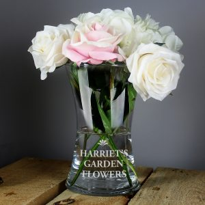 Bold Font Glass Vase