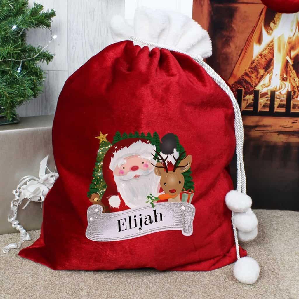 Red Christmas Santa Sack