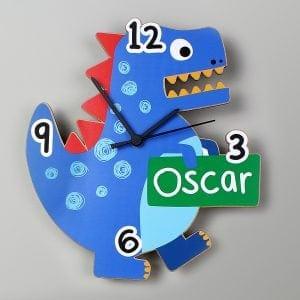 Dinosaur Shape Wooden Clock