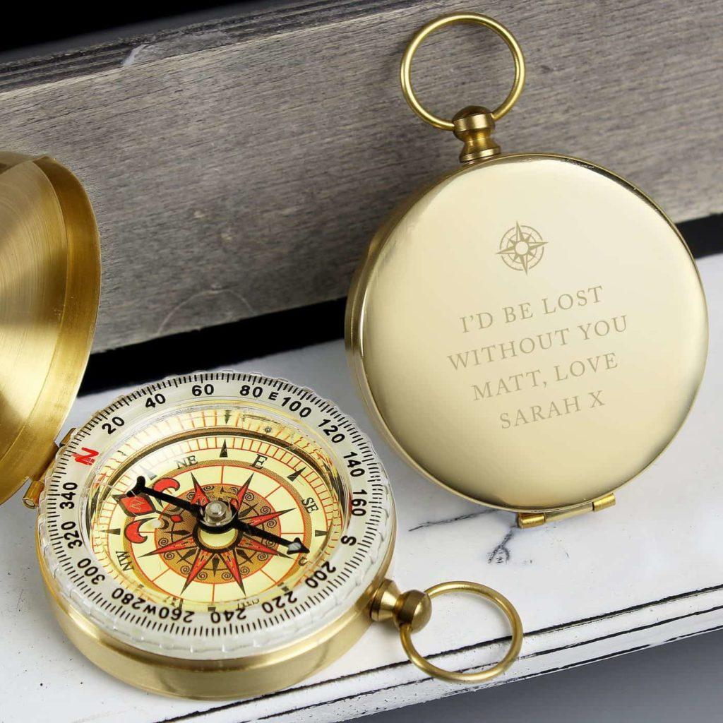 Personalised Free Text Keepsake Compass