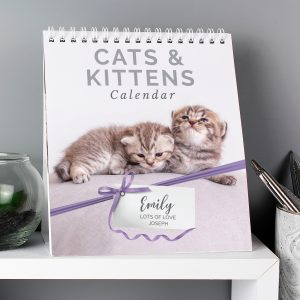 Personalised Cats and Kittens Desk Calendar