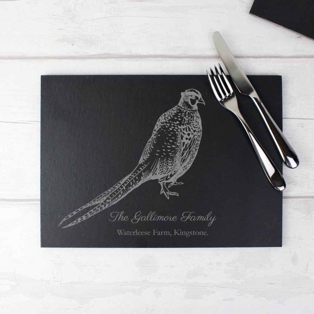 Pheasant Slate Placemat