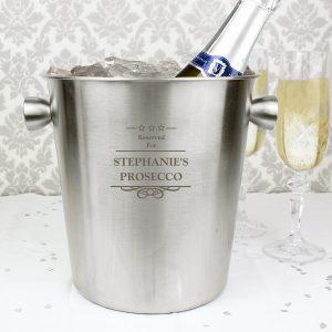 Decorative Stainless Steel Ice Bucket