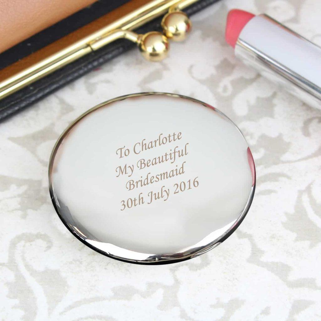 Silver Round Compact Mirror