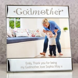 Silver Godmother Square 6x4 Photo Frame