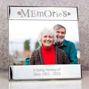 Silver Memories Square 6x4 Photo Frame