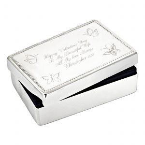 Butterfly Rectangular Jewellery Box