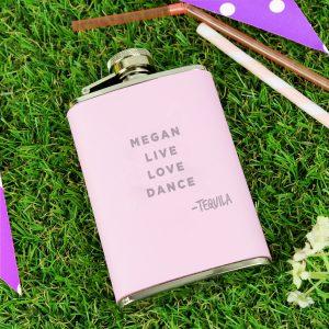 Signature Pink Hip Flask