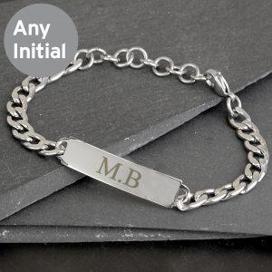 Initial Stainless Steel Unisex Bracelet