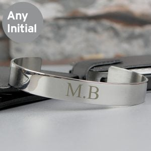 Initial Stainless Steel Bangle
