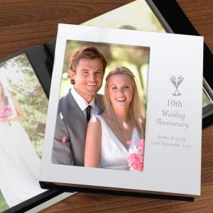 Flute Wedding Anniversary Photo Frame Album 6x4