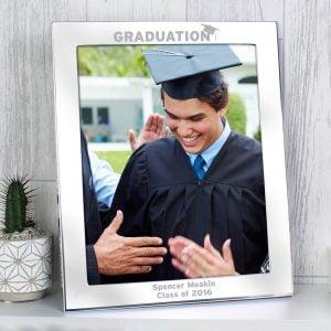 Silver 10x8 Graduation Photo Frame