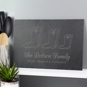 Welly Boot Family of Three Slate