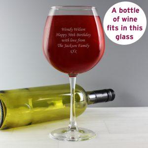 Bottle of Wine Glass
