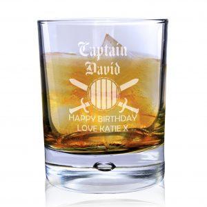 Captain Tumbler Bubble Glass