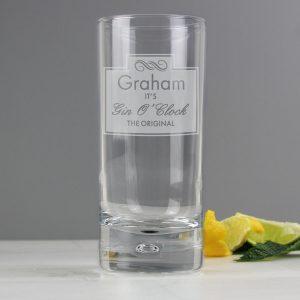 Gin O'Clock Hi Ball Bubble Glass