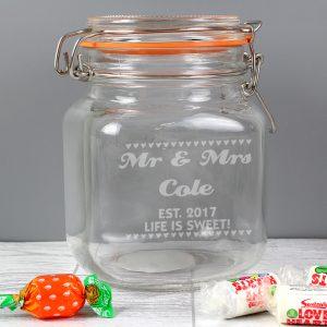 Small Hearts Glass Kilner Jar