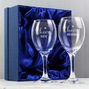 Cheers Wine Glass Set
