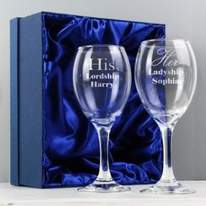 His & Her Wine Glass Set
