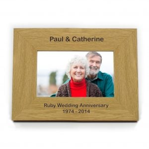 Oak Finish 6x4 Landscape Photo Frame - Short Message