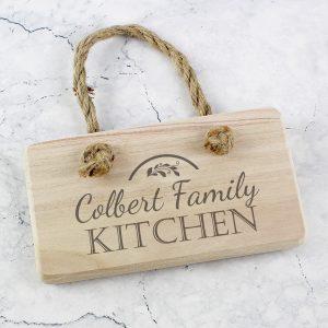 Kitchen Wooden Sign