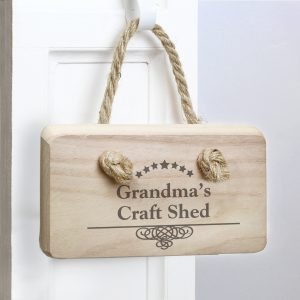 Decorative Swirl Wooden Sign