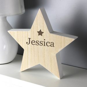 Any Name Rustic Wooden Star Decoration