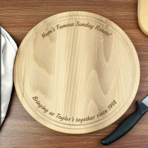 Plain Large Round Chopping Board