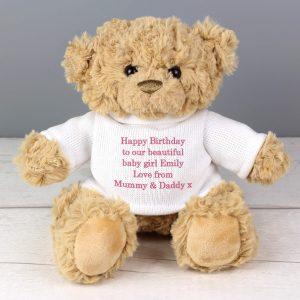 Pink Teddy Message Bear